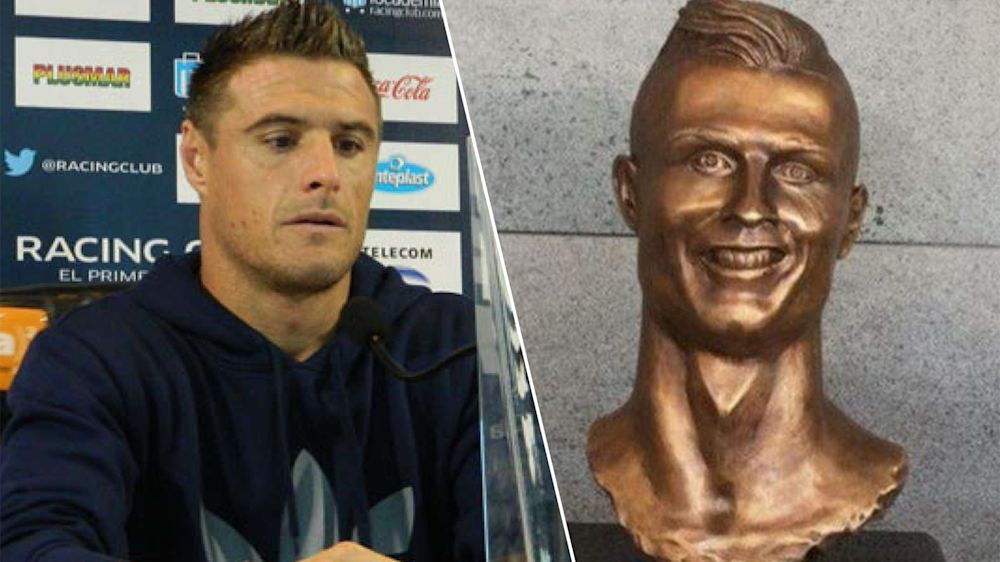 VIDEO: Iván Pillud, la 'cara' de la estatua de Cristiano Ronaldo