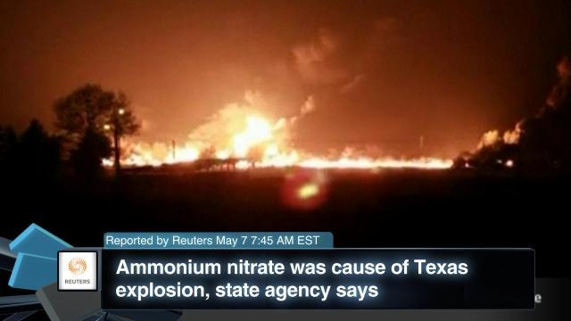 Ammonium Nitrate was Cause of Texas Explosion, State Agency Says