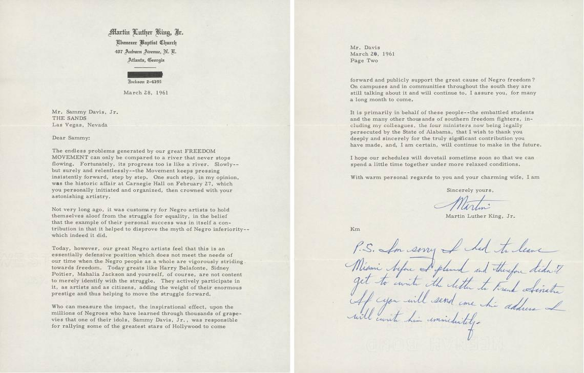 Martin Luther King Jr. letter about freedom up for auction. It could fetch $50,000