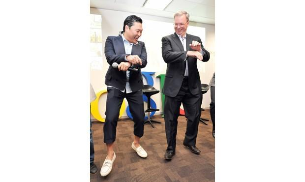 Caption Contest: Eric Schmidt does 'Gangnam Style' with PSY