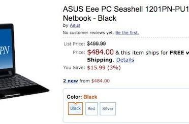 ASUS Eee PC 1201PN with NVIDIA Ion now available at an Amazon.com near you