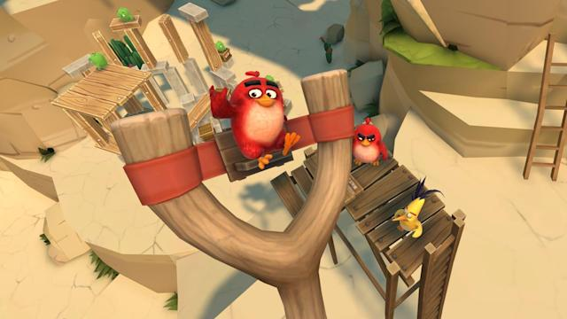 The first Angry Birds VR game puts the slingshot in your hand