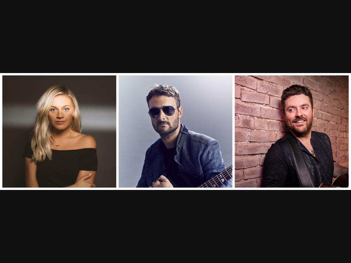 Left to Right: Kelsea Ballerini, Eric Church and Chris Young headline Country Summer 2021