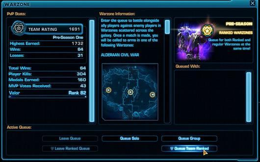 Star Wars: The Old Republic brings team ranked warzones back to the PTS