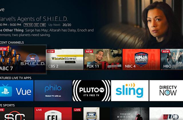 Amazon gives Fire TV devices a section devoted to live television