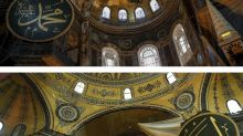 Thousands attend prayers at Hagia Sophia