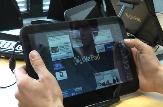 Neofonie's WePad tablet shown to German journalists, seems legit (update: now with English!)