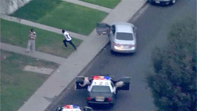 Armed robbery leads to high-speed chase, college campus lockdown