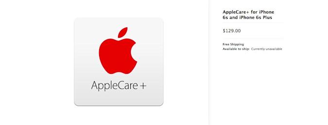 AppleCare+ for iPhone 6s costs $30 more than iPhone 6 coverage