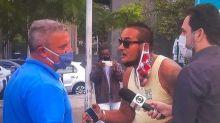 'Guardião do Crivella' cumpre jornada de trabalho em frente ao Hospital Rocha Faria após denúncia