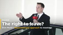 Elon Musk reportedly tells Tesla employees that they should just leave meetings or hang up the phone if it's not productive (TSLA)