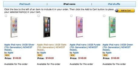 Apple's new iPods available for pre-order from Amazon