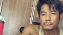 Aaron Kwok shares a worn look from filming, wife comments within seconds