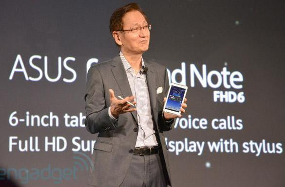 ASUS reveals FonePad Note FHD 6: 6-inch 1080p display, dual-core 1.6GHz CPU, 2GB RAM