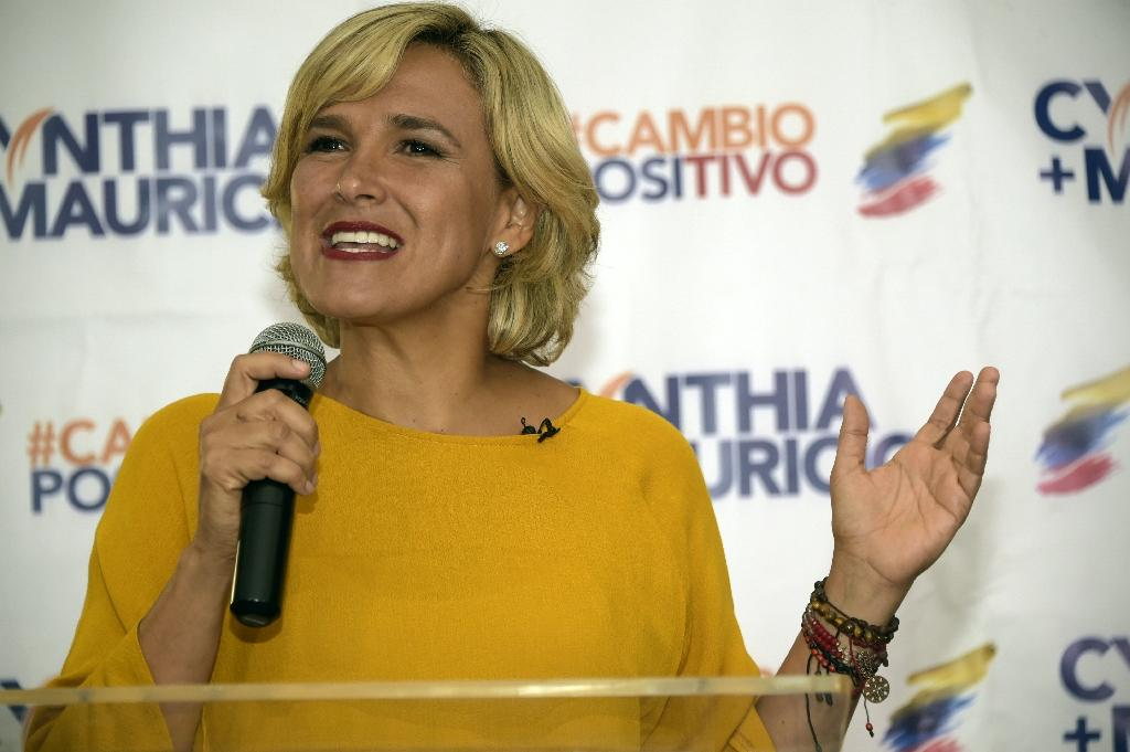 Ecuadorean presidential candidate for the Social Christian party, Cynthia Viteri said she would end Julian Assange's London embassy asylum if she wins (AFP Photo/RODRIGO BUENDIA)