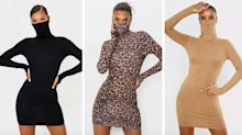PrettyLittleThing's viral face mask dress is back in stock - and comes in seven styles