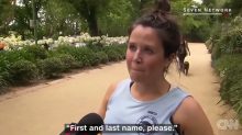 Jogger takes reporter's question too seriously in viral video