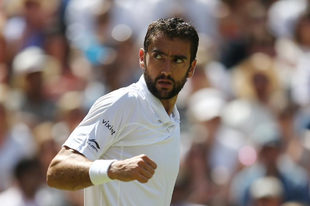 Croatia's Marin Cilic during the men's singles quarter-final match against Roger Federer, at Wimbledon on July 6, 2016 (AFP Photo/Justin Tallis)