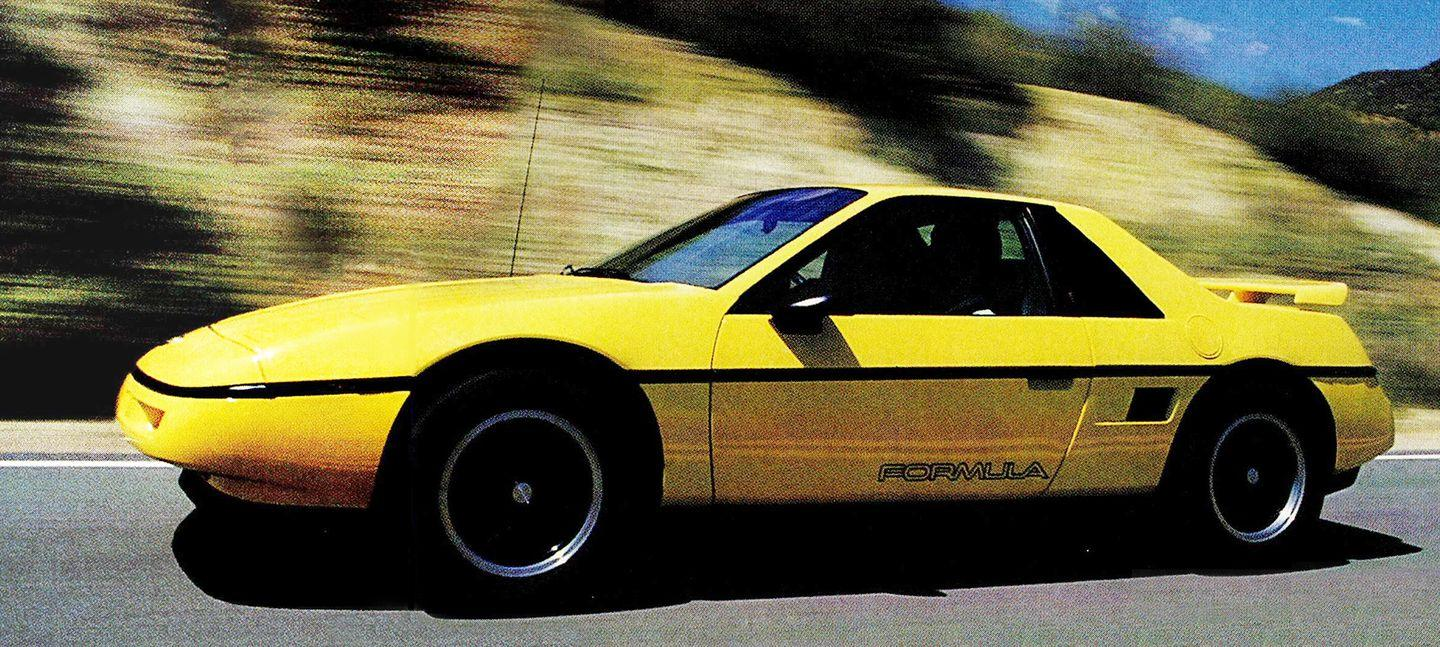 """<p><a href=""""https://www.roadandtrack.com/car-culture/a32469/its-finally-time-for-the-chevrolet-fiero/"""" rel=""""nofollow noopener"""" target=""""_blank"""" data-ylk=""""slk:The Fiero"""" class=""""link rapid-noclick-resp"""">The Fiero</a> might not be exotic, but there's hardly anything cheaper with the engine in the middle. Plus, it looks pretty cool. <a href=""""https://www.ebay.com/itm/1988-Pontiac-Fiero/333172617087?hash=item4d92a2af7f:g:ZKAAAOSwTnBcw3dy"""" rel=""""nofollow noopener"""" target=""""_blank"""" data-ylk=""""slk:This one on eBay"""" class=""""link rapid-noclick-resp"""">This one on eBay</a> has an upgraded powertrain and a sweet green paint job. </p>"""