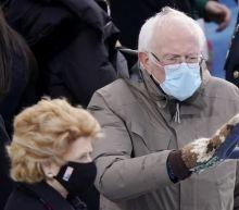 Yes, Bernie Sanders is laughing at those viral inauguration memes too