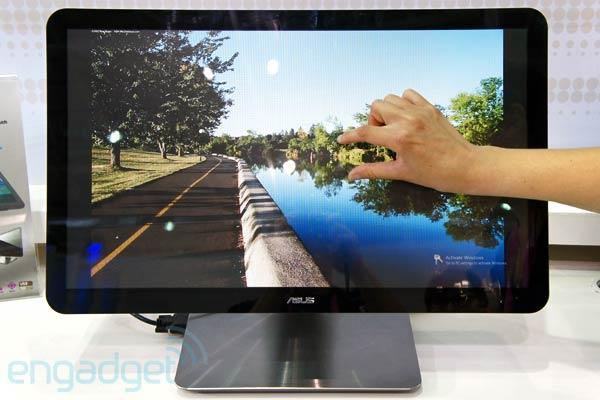 ASUS shows off its first Thunderbolt monitor, along with 3D, WiDi and multitouch displays (video)