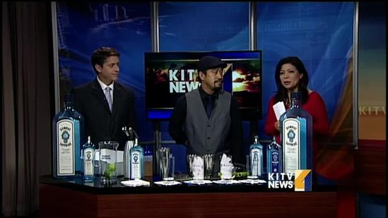 Tim Rita shows his mixologist magic before competition