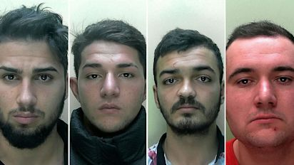 Gang jailed for raping woman and filming attack