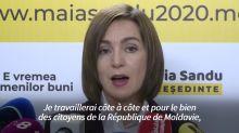 Présidentielle en Moldavie: la gagnante promet un équilibre entre Moscou et l'Europe
