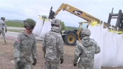 Iowa National Guard Joins Flood Fight