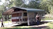 How to Move a Carport — Using an RV