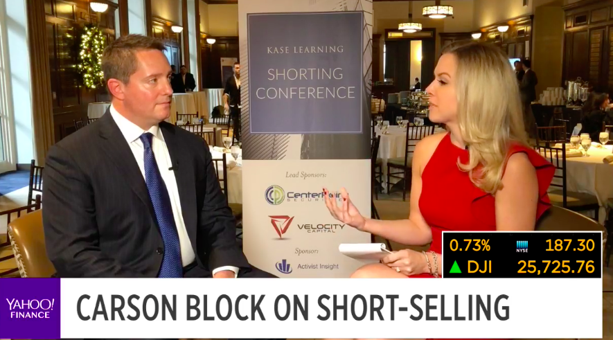 Carson Block urges short sellers to 'name individual names on Wall Street'