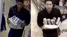 David Schwimmer's hilarious response to viral video of beer thief lookalike