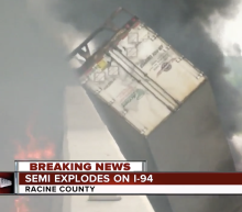 2 killed when semitrailers explode on I-94 in Wisconsin