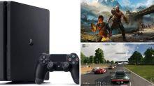 PS4 Slim com 3 jogos em oferta por menos de 2.400 reais