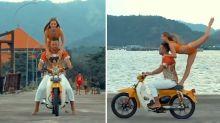 'Disgrace': Instagram influencer's reckless Bali motorbike stunt slammed online