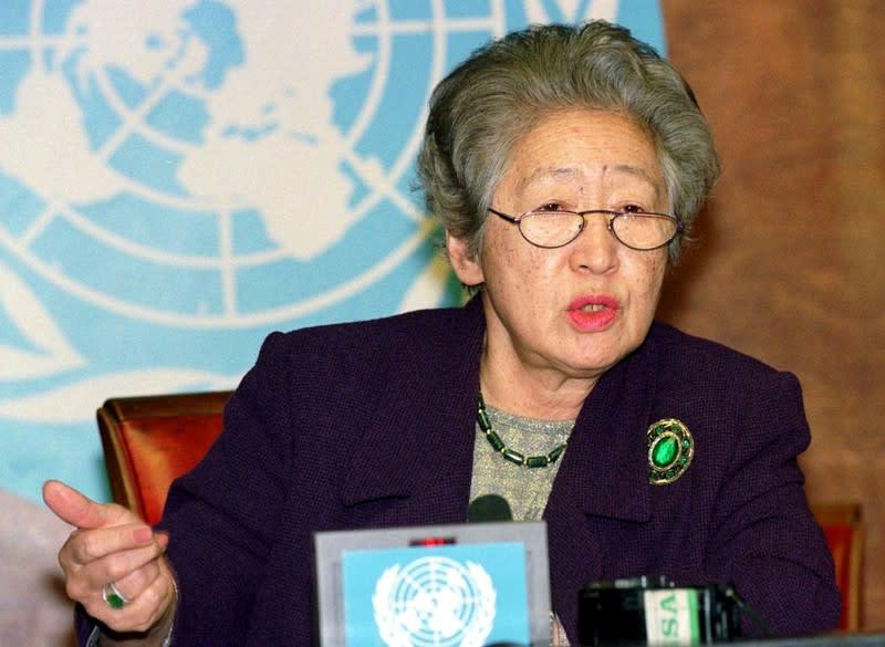 Japan's Sadako Ogata, first female U.N. refugee chief, dies at 92