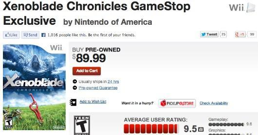 Gamestop defends Xenoblade price tag, Metroid Prime Trilogy being restocked