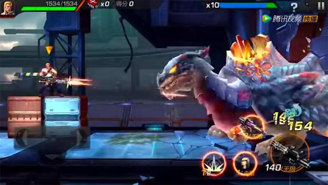'Contra' for phones looks just as tough as the console versions