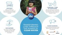 P&G Sets New Goal to Deliver 25 Billion Liters of Clean Drinking Water to Families in Need Worldwide