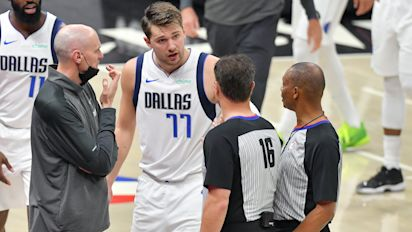 Doncic ejected for hitting below the belt