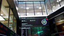London stocks end lower on China data, job market jitters