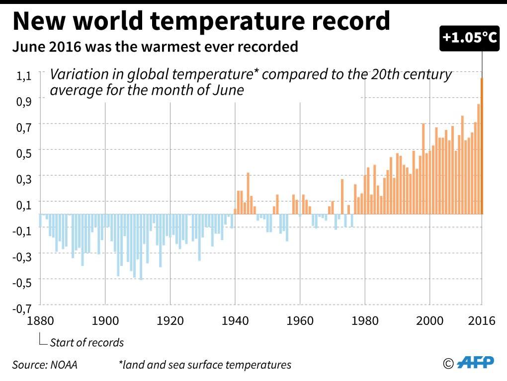 The warmest June on record (AFP Photo/Alain Bommenel, Sabrina Blanchard)