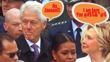 Bill Clinton checks out Ivanka Trump until he got busted by Hillary