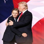 Donald Trump's Lookalike Son Barron Trump, 10, Couldn't Stop Yawning at RNC