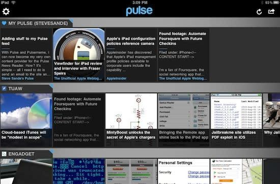 Pulse News Reader for iPad update makes you a news editor