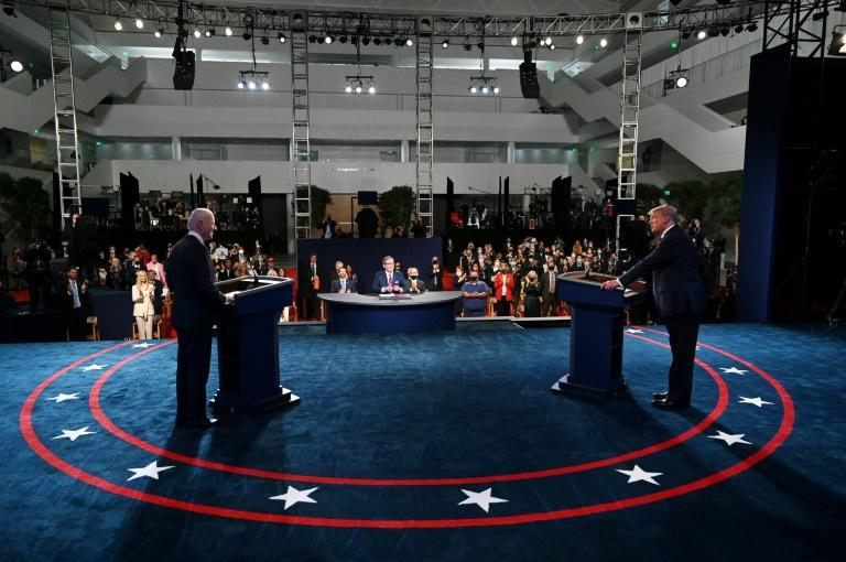 US President Donald Trump spent much of the first debate of the general election season interrupting his rival Democrat Joe Biden at the event in Ohio on September 29, 2020