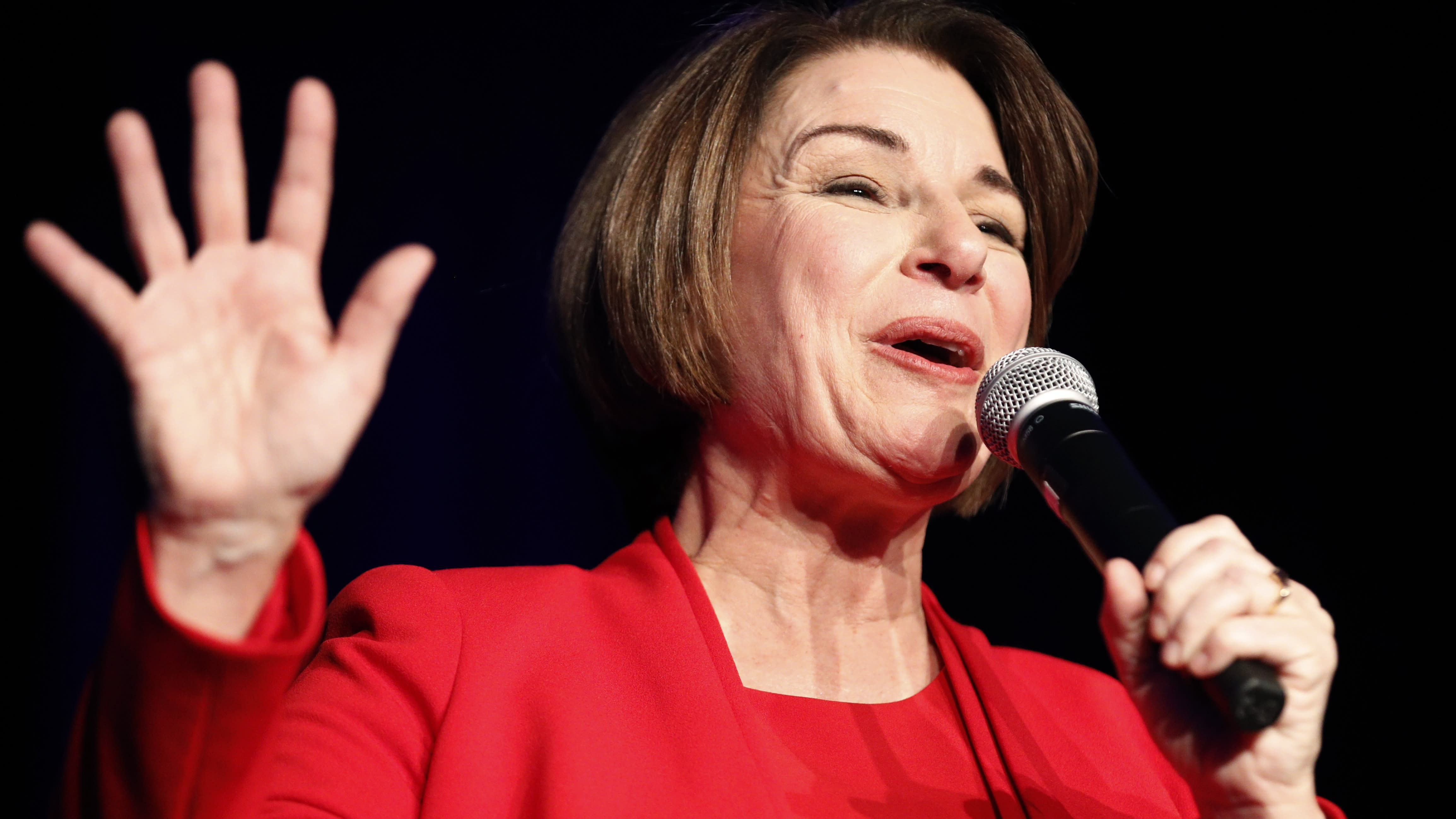 Amy Klobuchar reports surge in donations to her presidential campaign