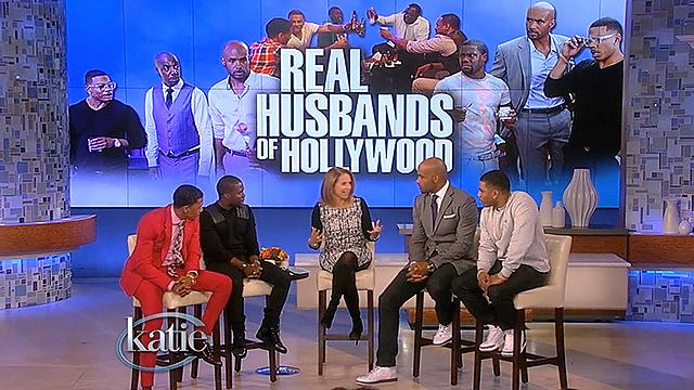 "Katie welcomes ""The Real Husbands of Hollywood"""