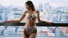 Bella Hadid strips down in Tokyo