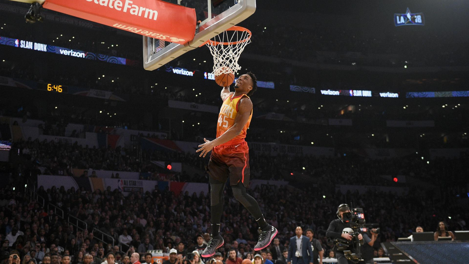 Donovan Mitchell caps NBA All-Star challenges with dunk ...